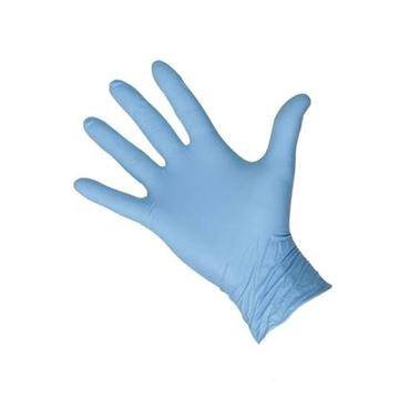Vinyl handschoenen licht gepoeder blauw 10x100st. S t/m xl
