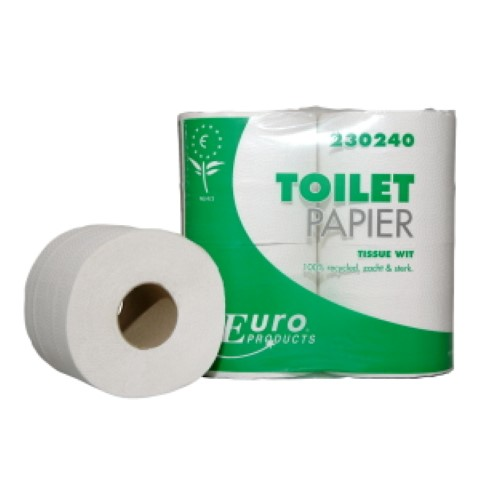 Toiletpapier eco tissue wit, 400vel, 2-laags