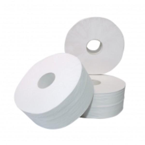 Toiletpapier mini jumbo 2-laags cellulose 6x180m.