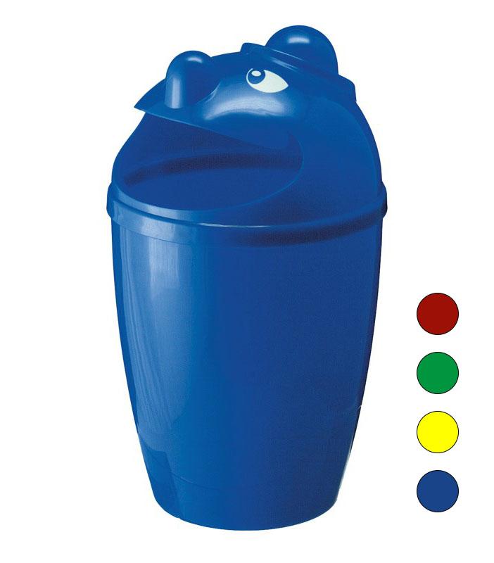 Afvalbak 75ltr, met gezicht leverbaar in diverse kleuren