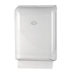 Pearl white gevouwen handdoekjes dispenser Z-Vouw en interfolded