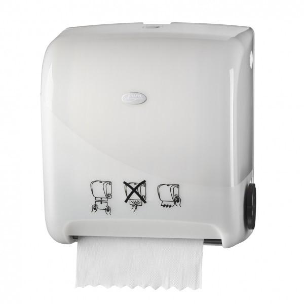 Pearl White Handdoekautomaat Matic handmatige bediening