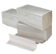 Gevouwen handdoekje Z-vouw 2-laags recycled tissue wit. 23x25cm. 20x160st. (3200)