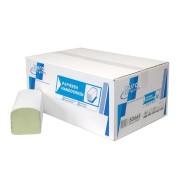 Gevouwen handdoekje Z-vouw 2-laags recycled groen. 23x25cm. 20x160st. (3200)