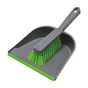 Stoffer en blik PVC grijs/groen