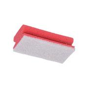 Schuurspons wit/rood