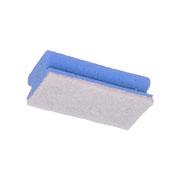 Schuurspons wit/blauw