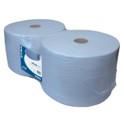 Industriepapier blauw recycled 1000mx23cm, 1-laags