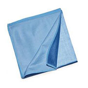 Microvezel glasdoek 40x40cm. blauw