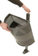 Afvalbak 35 ltr op paal