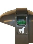 Afvalbak Cibeles 50 ltr met cassette voor hondenpoepzakjes