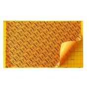 Universeel lijmbord groot karton geel en zwart