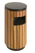 Ronde houten buitenafvalbak 33ltr.