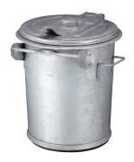 Staalverzinkte afvalbak 70 ltr