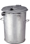 Staalverzinkte afvalbak 90 ltr