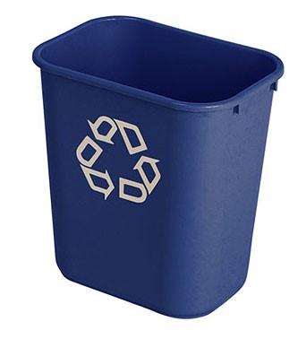 Rubbermaid rechthoekige afvalbak 27ltr. Leverbaar in diverse kleuren.