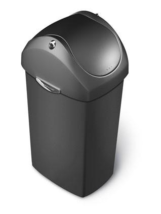 Afvalbak 60ltr, Plastic Can met swingdeksel