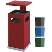 As-papierbak 70ltr, met afneembaar afdak leverbaar in diverse kleuren.