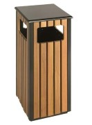 Vierkante houten buitenbak