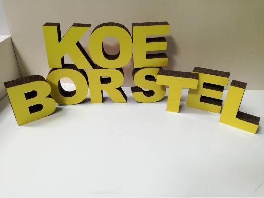 3D letters van karton