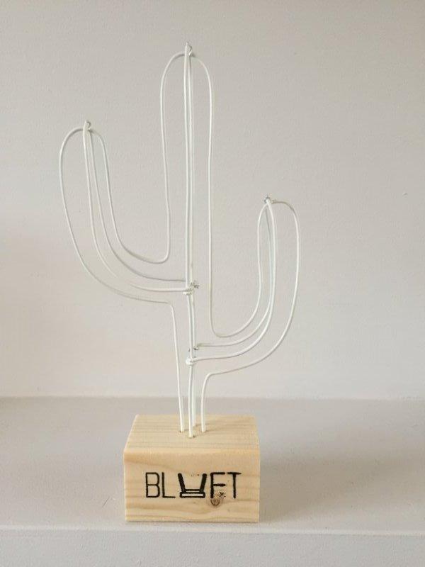 Cactus wit mini vurenhout