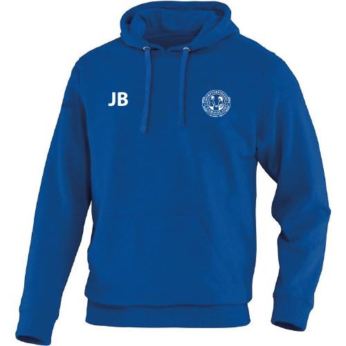 Hooded sweater blauw senior met initialen