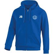 Hooded vest blauw senior met initialen