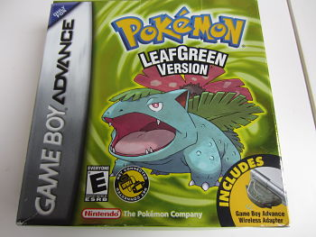 Pokemon leafgreen inclusief wireless Adapter