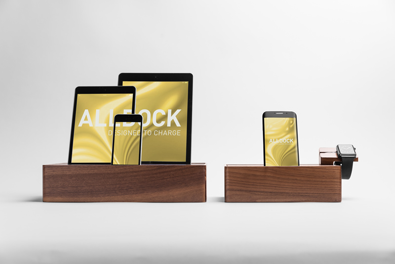 ALLDOCK walnut large