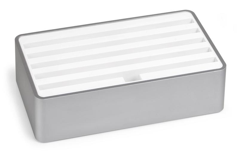 ALLDOCK aluminium space grey with white