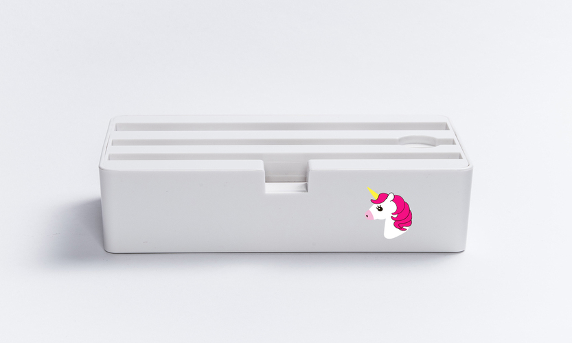 D-Dock White Unicorn, 4x USB-Charger