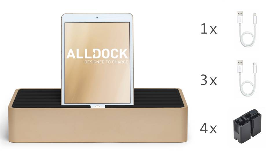 <strong>70% DISCOUNT</strong> ALLDOCK Gold/ Black Package