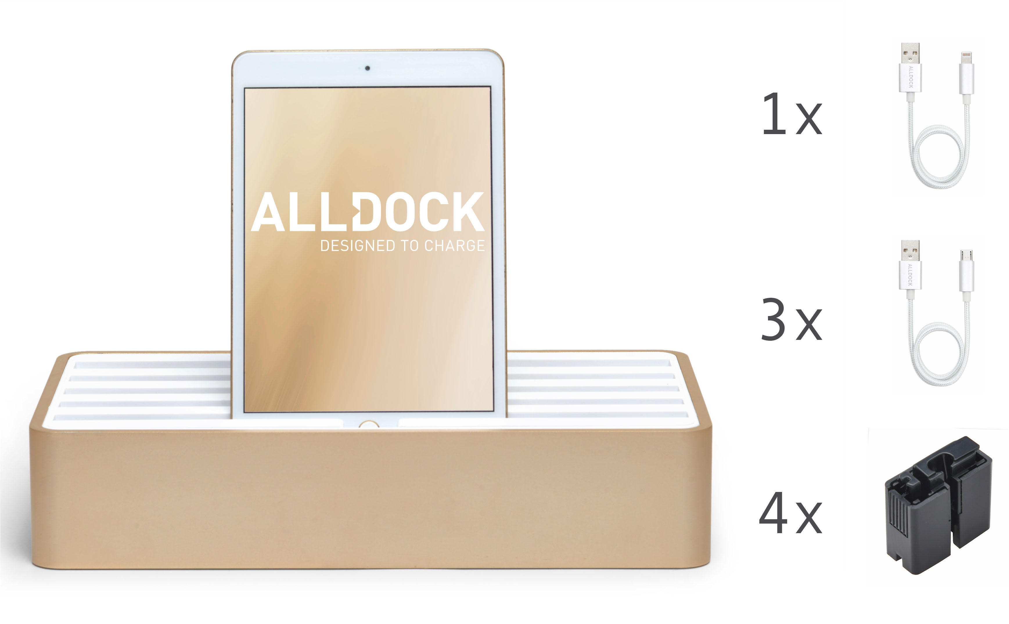 <strong>70% DISCOUNT</strong> ALLDOCK Gold/ White  Package