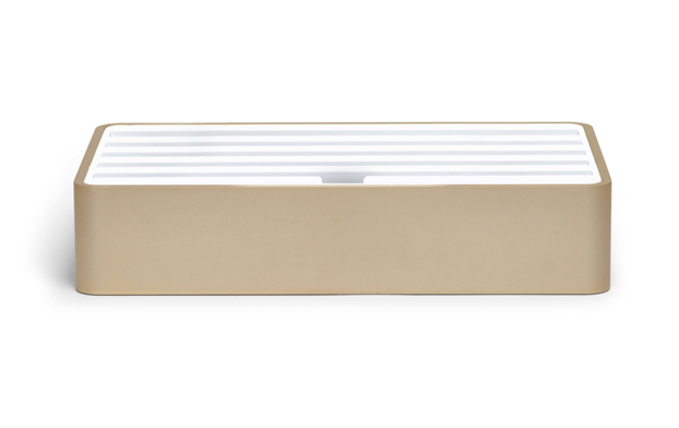 <strong>70% DISCOUNT </strong>ALLDOCK large aluminium gold with white