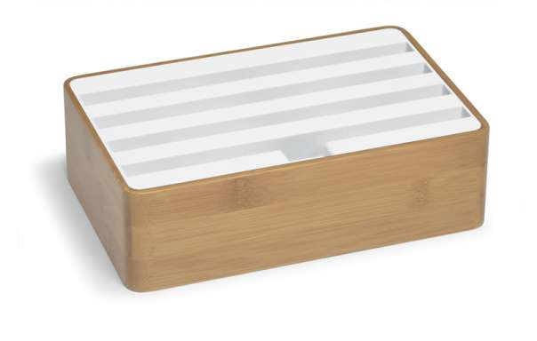 ALLDOCK bamboo/white medium