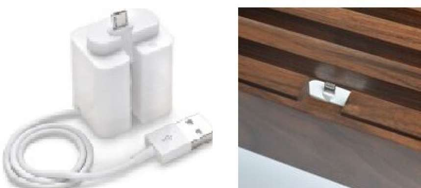 ALLDOCK adapter white, with MFI USB cable