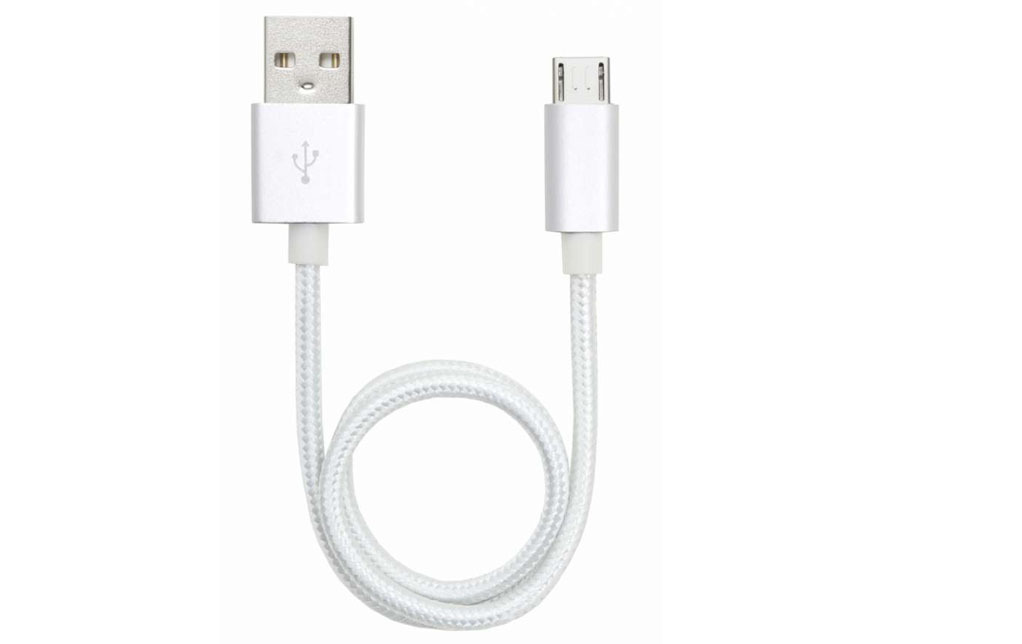 <strong>15% DISCOUNT</strong> 4-pack Micro USB cable white