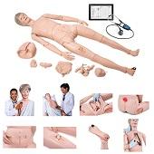Verpleegkunde pop met auscultatie (luxe model 1,74 m)