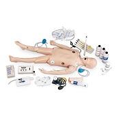Reanimatiepop CRiSis kind compleet met ECG simulator (gewicht: 12 kg)