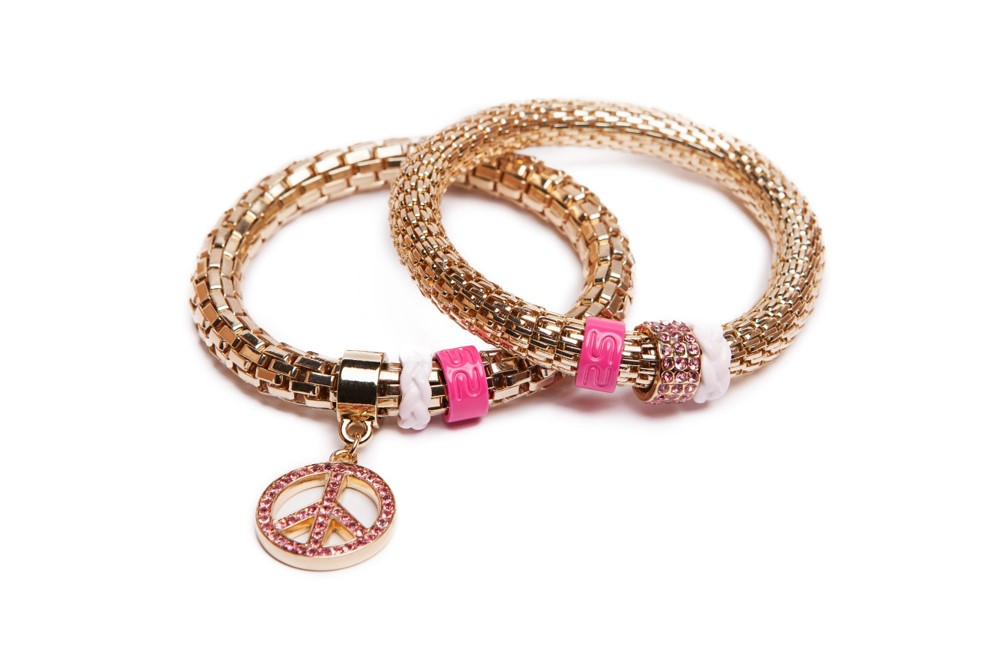 The Snake Strass Gold & Peace | Silis Bracelet