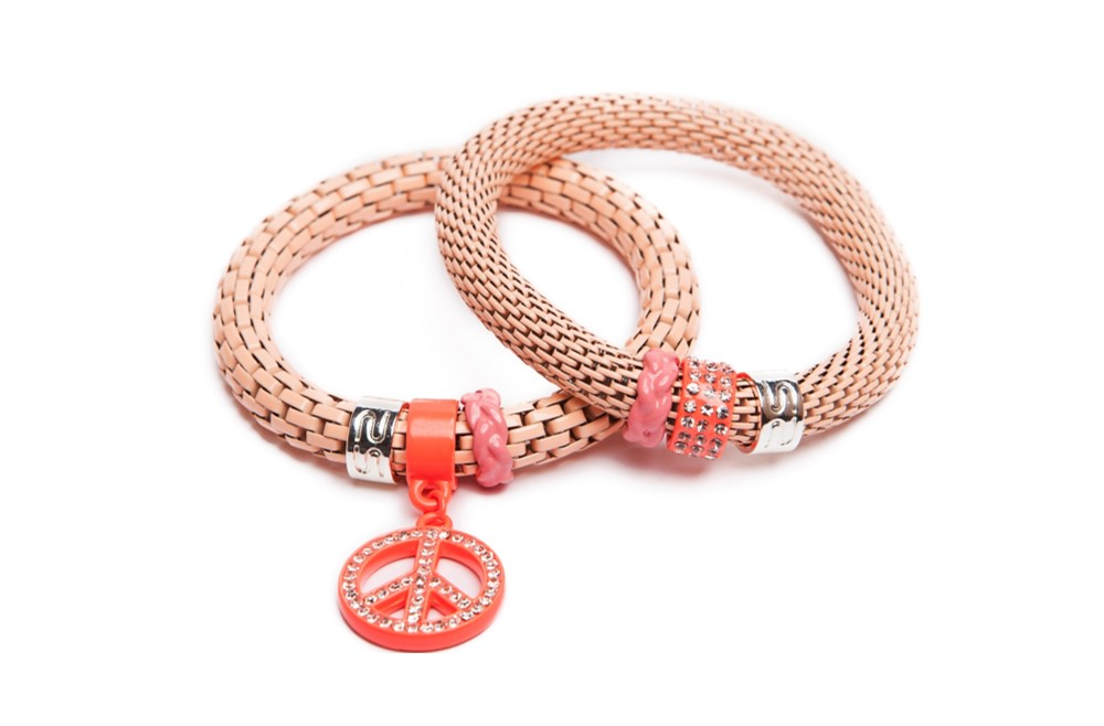 The Snake Strass Peach & Peace | Silis Bracelet