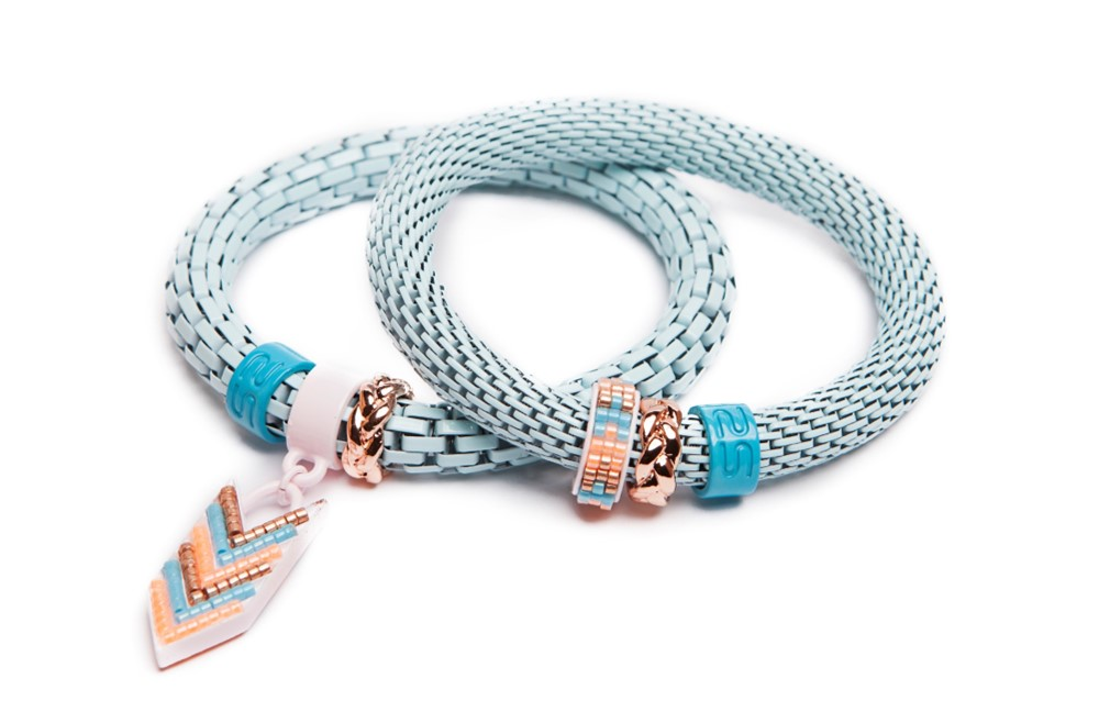 The Snake Strass Light Blue & Arrow | Silis Bracelet