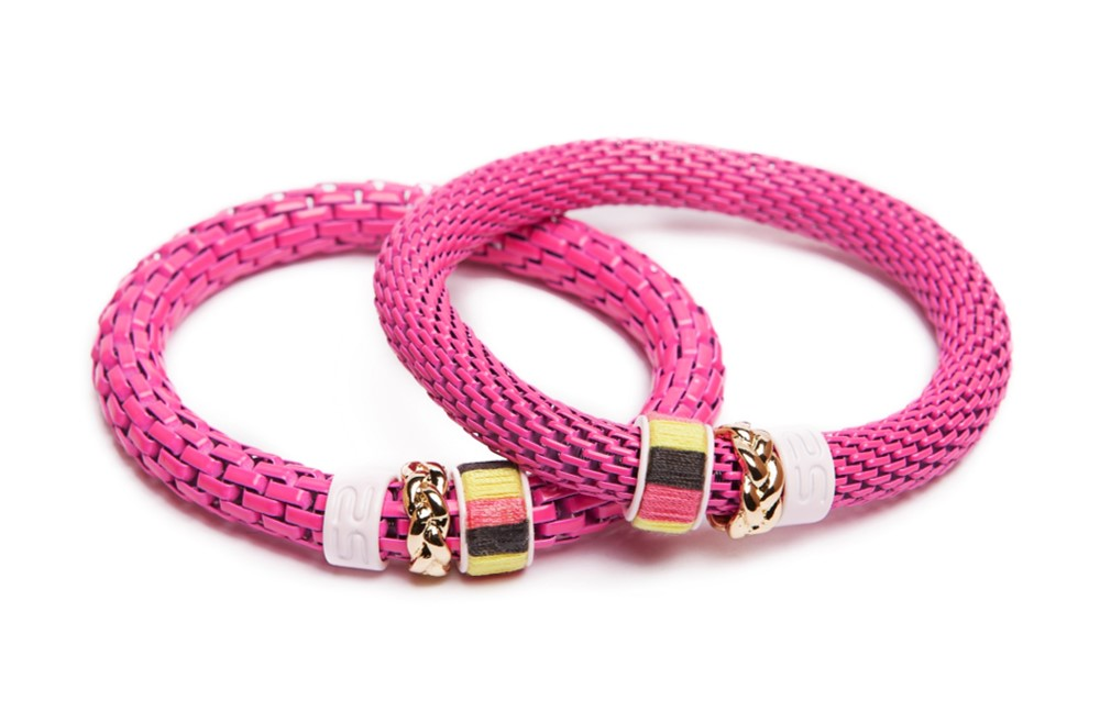 THE SNAKE STRASS | FLUO PINK & CORD