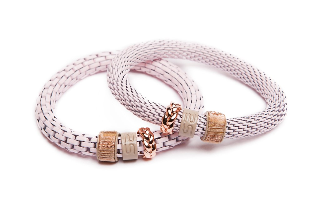 THE SNAKE STRASS | BABY PINK & CORD