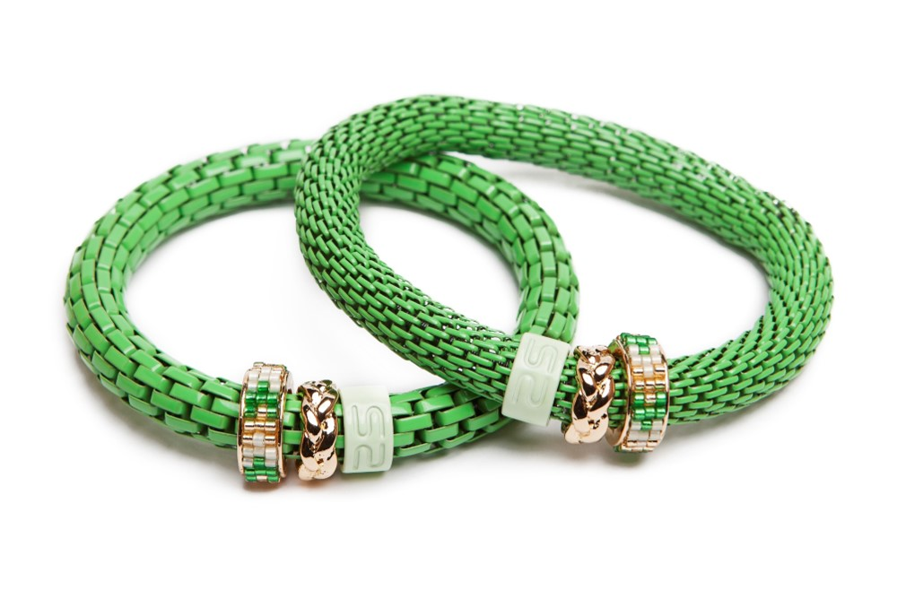 The Snake Strass Green & Miyuki | Silis Bracelet