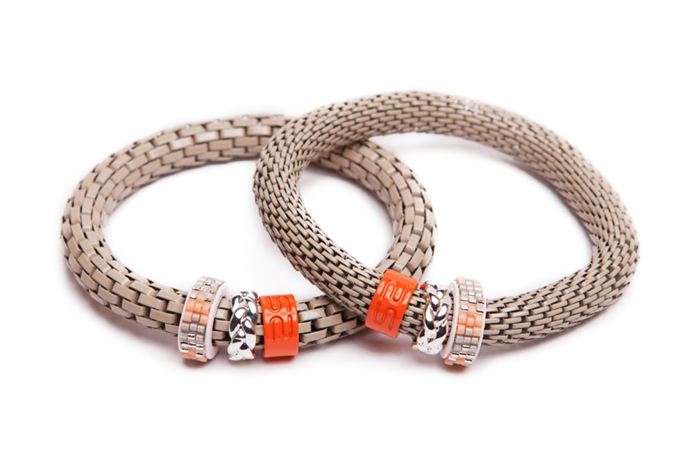 The Snake Strass Taupe & Miyuki | Silis Bracelet