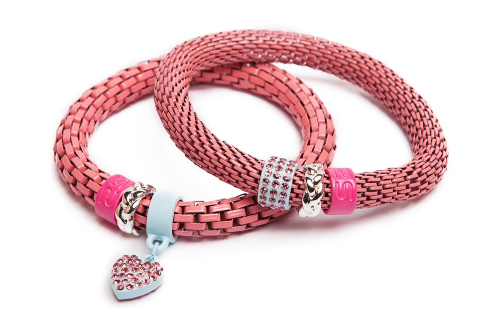 The Snake Strass | Marsala Pink & Heart