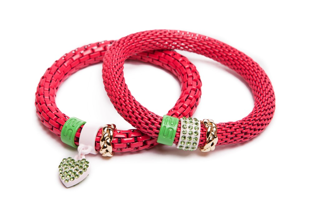 The Snake Strass Fuchsia & Heart | Silis Bracelet