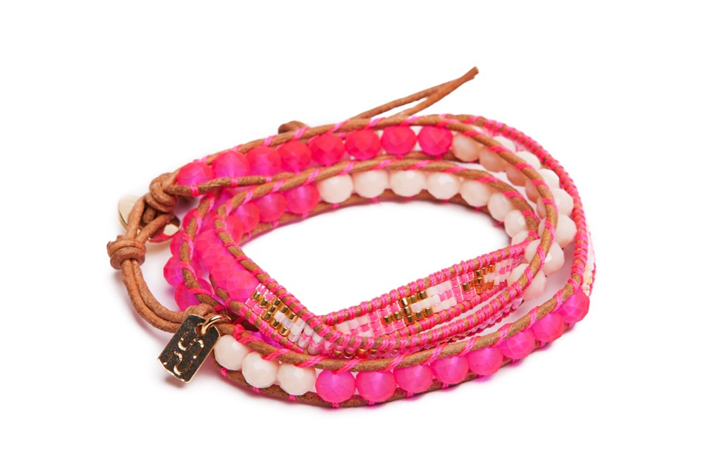 The Wrap Fluo Pink | Silis Bracelet
