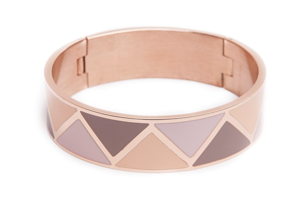 The Bangle XL Pink Gold & Emaille | Silis Bracelet